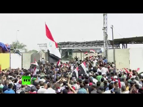 State of emergency in Baghdad as thousands of protesters enter green zine, storm parliament