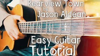 Rearview Town Jason Aldean Guitar Lesson for Beginners // Rearview Town Guitar // Guitar Lesson #438
