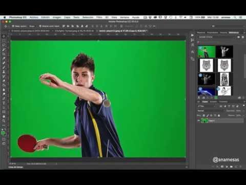 Photoshop CC - Eliminación de fondos croma