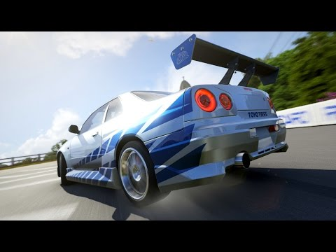 Forza 6 | Paul Walker's 2 Fast 2 Furious Nissan Skyline R34 Gameplay & Showcase [1080p 60FPS]