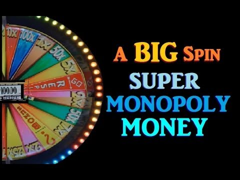 ► SLOT MACHINE BIG WHEEL SPIN! FUNNY Super Monopoly Money Slot Machine Bonus Wheel Spin! (DProxima)