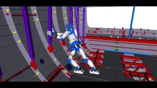Posture generation in Comanoid scenario snapshot