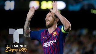 El hat-trick histórico de Messi en Champions | UEFA Champions League | Telemundo Deportes
