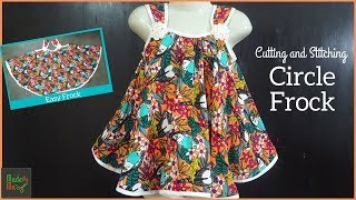 Circle Frock Cutting and Stitching (English Subtitle)