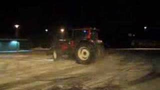 Tractor drift on snow