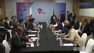 President Duterte holds bilateral meeting with Japan PM Shinzo Abe
