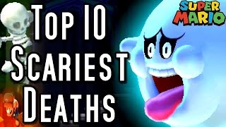Super Mario TOP 10 SCARIEST DEATHS (3DS, Wii, N64)