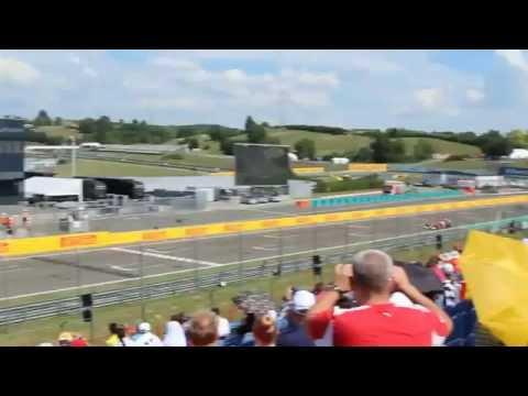Hungaroring 2014 Formula1 sound check Gold1 tribune.