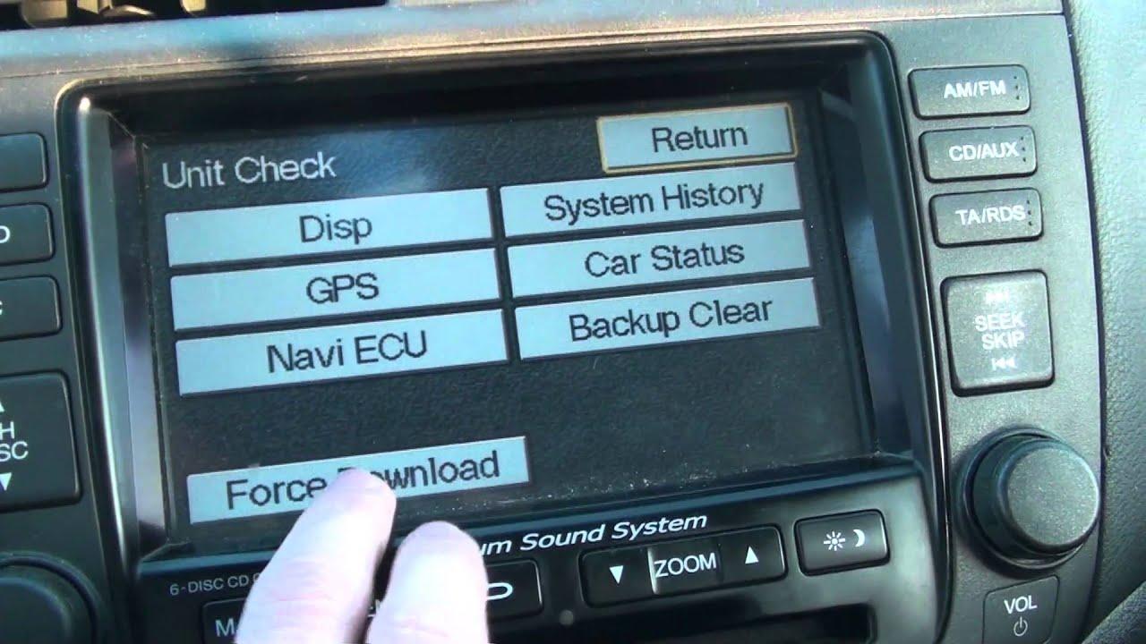Honda Accord SAT NAV GPS DVD DISC ver. 2.06 - YouTube