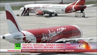 video airasia flight number QZ8501, bound from the Indonesian city of Surabaya to Singapore, has lost contact with air traffic control, the airline has confirmed. ...