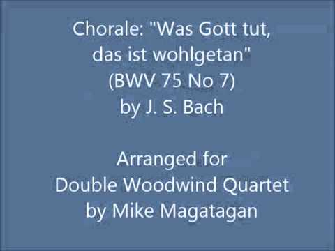 Бах Иоганн Себастьян - Was Gott tut, das ist wohlgetan (movement No. 14 from Cantata No. 75)