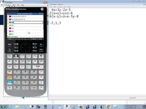 HP Prime - Solving Systems of Equations - Solve App
