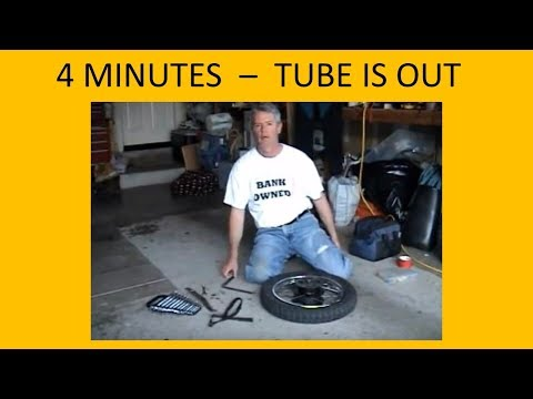 MOTORCYCLE FLAT TIRE Repair - how to TRICKS to EASILY REMOVE the inner tube by Carl Quakenbush