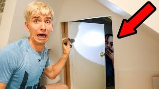 EXPLORING MY BROTHERS SECRET HIDDEN ROOM AT 3AM!!