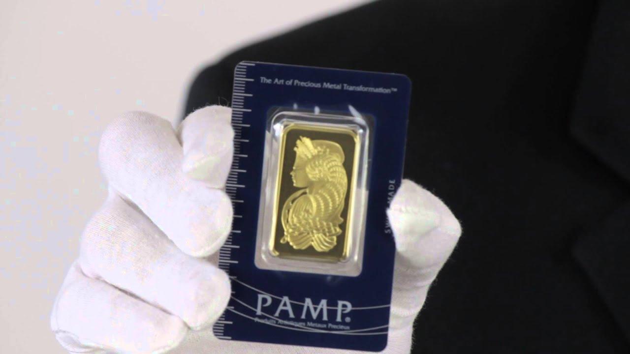 1 Oz Pamp Suisse Gold Bar 9999 Fine Goldmart Youtube