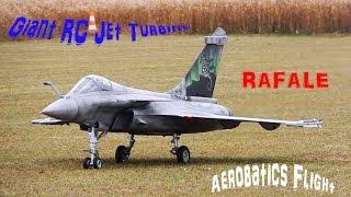 Giant RC Jet Turbine RAFALE, Aerobatics Flight scale 1/5