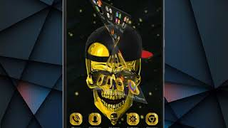 Hip Hop Launcher Gold Skull Launcher - Android Phone -[Artchilly Designs]