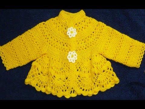 Платье крючком для малышки 3-6 месяцев.Baby dress...