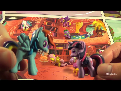 My Little Pony MY BUSY BOOK! 12 MLP Figures, Storybook & Playmat Review by Bin's Toy Bin