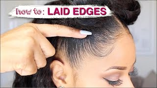 EDGES LAID TO THE GAWDSSS! ➟ how I slay my natural edges