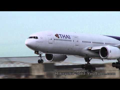 Thai TG465 Landing Melbourne Airport 22May13 From Bangkok