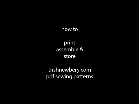 How To Print, Assemble and Store Your PDF Sewing Patterns