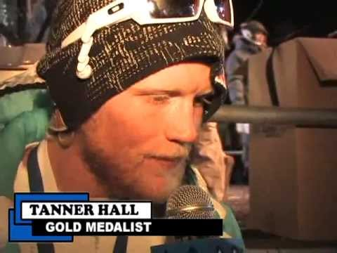 Winter X Games 11: Angela Sun post interview w/ Tanner Hall Gold medalist in Mens Ski Superpipe