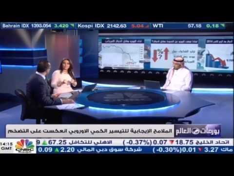 مقابلة م. طلال السميري مع cnbc للحديث عن التطورات على اليورو وبيان الاحتياطي الاربعاء ٢٩ ابريل ٢٠١٥