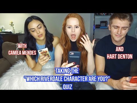 I had Cami & Hart over and we took the 'Which Riverdale Character Are You' Quiz- watch to see the results! We also took a couple of other Riverdale related quizzes, let me know if you want...