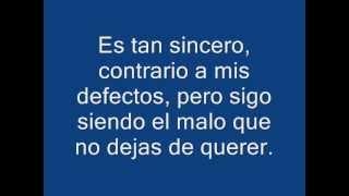 Aventura-El Malo (letra)