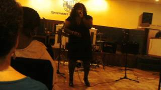 Gwen Allen Singing, Glad to be in the Service one more Time, July 29, 2012