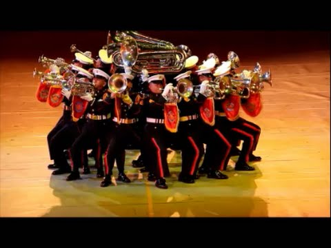 Philippine Marine Drum and Bugle Corps performance JSDF MARCHING FESTIVAL2014