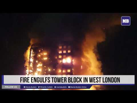 Fire engulfs tower block in west London
