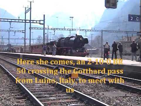 Steam Excursion with 241 A 65 and BR 50 over Gotthard Pass - Part1