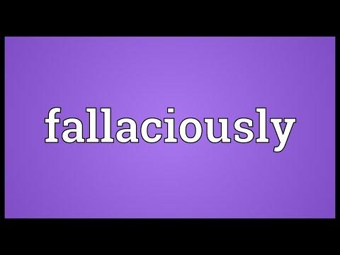 Header of fallaciously