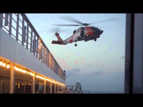 Carnival Liberty March  2012 Crew Member Rescue By Coast Guard