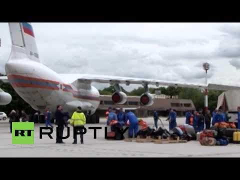 Serbia: Russian jet flies in aid to flood-hit Serbia