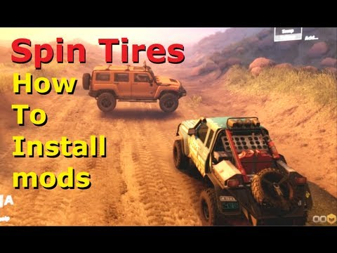 Spin Tires - Mods. How To install tutorial / guide. cars. trucks. newest developer tech demo. 2014