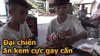 Thử Thách Bóng Đá thi ăn kem Quang Hải Nhí Duy Trung so tài Neymar Hà nội Văn Anh  - Đỗ Kim Phúc