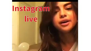 Selena Talks about The Weeknd on Instagram Live