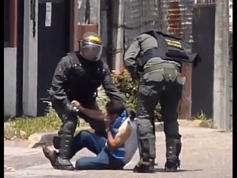Venezuela 2014 Riots: Police Brutality - They Should Be In Jail #PrayForVenezuela