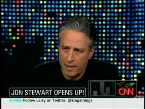 Jon Stewart Trashes CNN Again & Again on 'Larry King Live'; Questions Rick Sanchez's Firing
