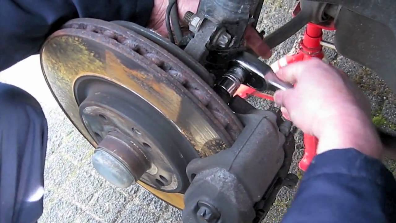 Mercedes Benz Brake Pads And Rotors >> Brake pads and Rotor replacement left front brake Mercedes C320 CDI.mov - YouTube