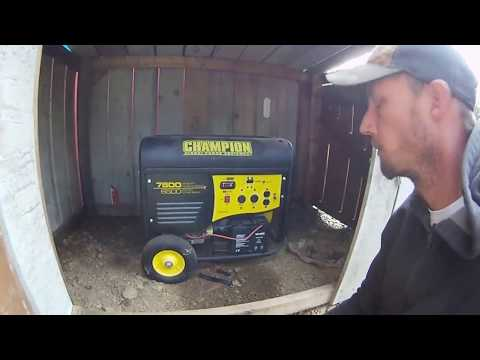 Champion 7800/6500w Generator Review