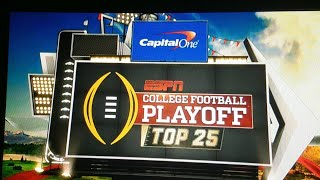🔴College Football Playoff Poll Live Reaction