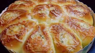 CHEESE BREAD   Scallions Cheese Soft Bread Recipe