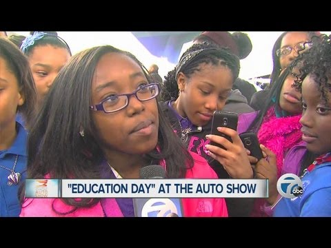 """Education Day"" at the North American International Auto Show"