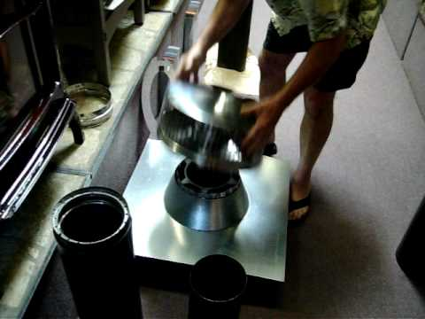 Wood Stove Chimney Installation Basics Video review #1