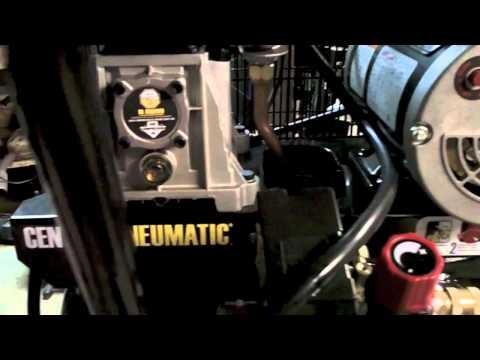 Proper break in of Harbor Freight central pneumatic 29 gallon 2hp 150psi air compressor model 68127