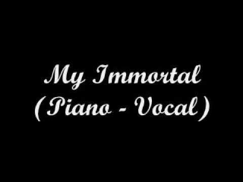 Evanescence - My Immortal (Piano - Vocal) - Lyrics